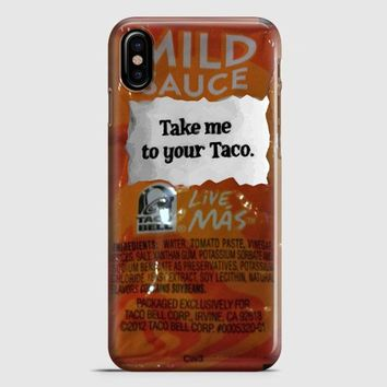 Taco Bell Take Me To Your Taco iPhone X Case