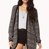 Cozy Tribal Print Cardigan