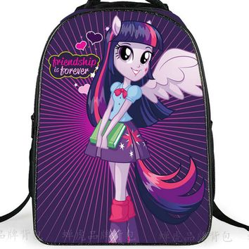 School Backpack 2018 Cute School Bags For Teenagers Girls Pony Horse Twilight Sparkle Backpack Kids SchoolBags Children Mochila AT_48_3