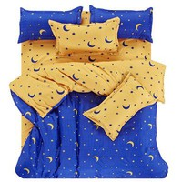 JU Fashion Color Mix And Match Cotton Bedding Set Bed Sheet Duvet Cover Pillowcase 4 pcs Combination Bed Cover Bed Linen