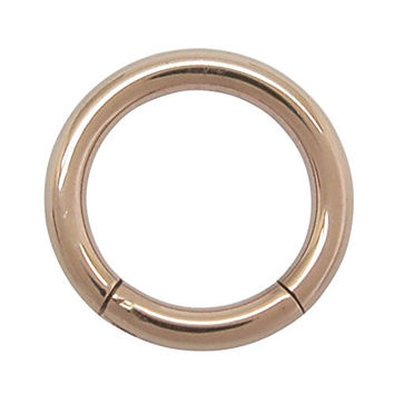 A pair of surgical steel septum clicker hinged hoop earrings 1.6mm x 8mm (rose gold color)