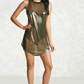 Mini Metallic Jersey Dress