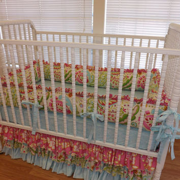 READY TO SHIP--3 pc--Kumari Garden Crib Bedding Set