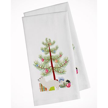 Stoat Short-tailed Weasel Christmas White Kitchen Towel Set of 2 BB9239WTKT
