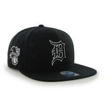 DCCKG8Q MLB 47 Brand Detroit Tigers 2015 Mens Sure Shot Snapback-Navy