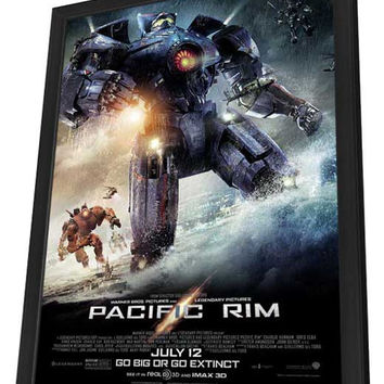 Pacific Rim 27x40 Framed Movie Poster (2013)