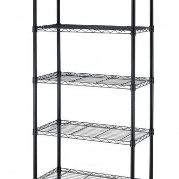 5 Shelf Black Steel Wire Shelving 30 by 14 by 60-Inch Storage Rack all color