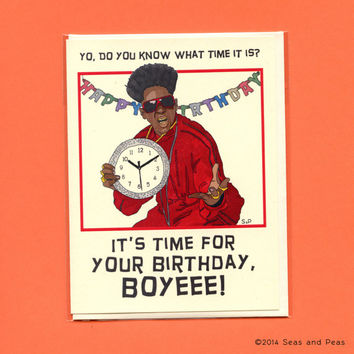 FLAVOR FLAV BIRTHDAY Card - Flavor Flav Card - Funny Birthday Card - Adult Funny Birthday Card - Flavor Flav - Flavor Of Love - Original Art