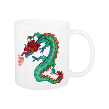 Fire Breathing Dragon on Coffee/Tea Mug