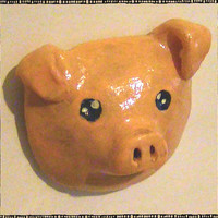 Cute Pig Head Polymer Magnet