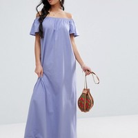 ASOS PETITE Off Shoulder Maxi Dress at asos.com