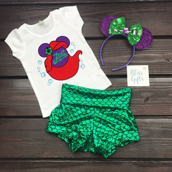 Ariel Aloha Little Mermaid Minnie Shirt