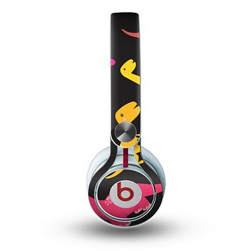 The Vector Neon Dinosaur Skin for the Beats by Dre Mixr Headphones