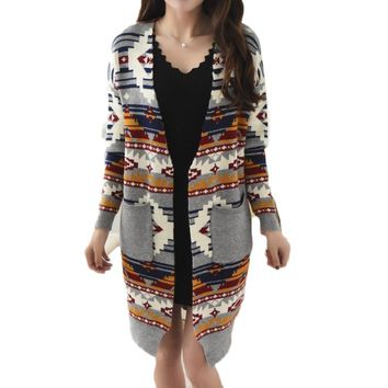 Casual  Size XL Spring Ladies Classical Cardigans Knitted Cardigan Fashion Women Autumn Winter Crochet Sweaters Cotton