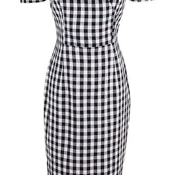 Atomic Classic Black and White Checkered Pinup Dress