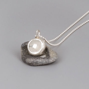 Sterling Silver Pebble Necklace - Handmade Sterling Silver Jewelry
