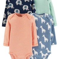 4-Pack Animal Original Bodysuits