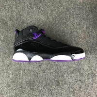 Nike Air Jordan Retro AJ6 AJ13 Black/Purple Sneaker Shoes US5.5-8.5