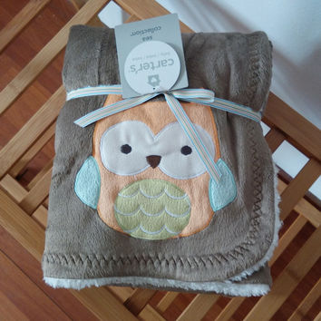 fashion carters Europe Baby children's rabbit owl car flower Pattern blanket cartoon Be hold Air conditioning Knee blanket