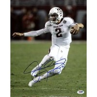 TEXAS A&M JOHNNY MANZIEL SIGNED AUTHENTIC 11X14 PHOTO ROOKIE GRAPH CERTIFICATE OF AUTHENTICITY PSA/DNA #R82243