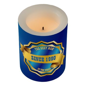 The Best Mom, Dad, Grandma, Grandpa, Sister, Bro Flameless Candle