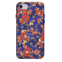 Cherry Blossom Floral Chrome iPhone Case