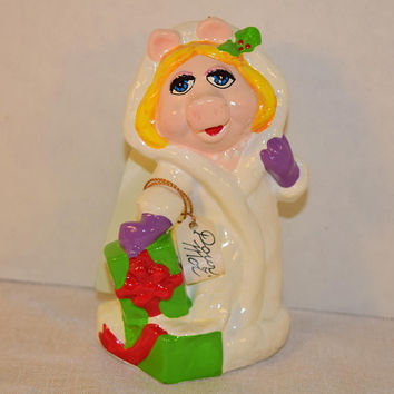 Henson Miss Piggy Ornament Vintage 1981 Jim Henson Muppet Christmas Ornament Miss Piggy Collectible The Muppets Christmas Tree Decoration