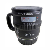 Into Focus Camera Mug & Lens Lid Ceramic Heat Dishwasher Safe Coffee Cup Gift