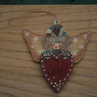 ornament angel for christmas tree by rocksntwigs on Etsy