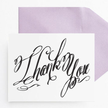 Wedding Thank You Cards // Calligraphy // Folded Notecards