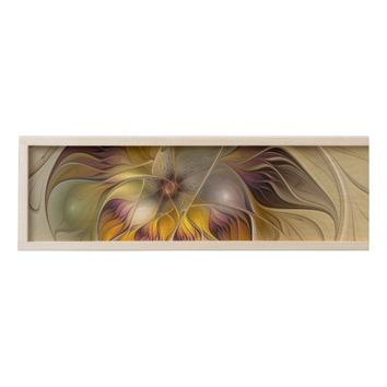 Abstract Colorful Fantasy Flower Modern Fractal Wooden Keepsake Box