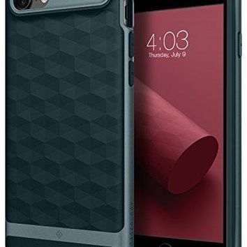 iPhone 8 Case / iPhone 7 Case Caseology [Parallax Series] Slim Protective Dual Layer Textured Cover Secure Grip Geometric Design for Apple iPhone 8 (2017) / iPhone 7 (2016) - Aqua Green