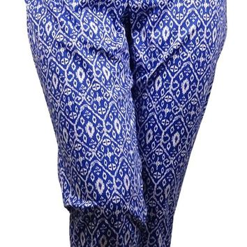 Charter Club Women's Ikat Print Classic Side-Zip Pants