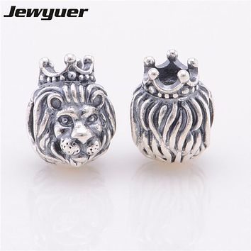 Fine jewelry 925 sterling silver jewelry charm lion king charms pendant Fit bracelet Diy gift to baby assessories jewelleryBE162