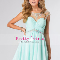 2014 Bateau Homecoming Dresses A-Line Short With Ruffles $157.49 PGDPLCBFRGK - PrettyGirlsDresses.com for mobile