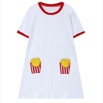 Fries T-shirt Dress