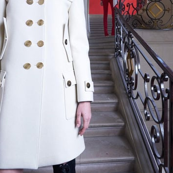 Gold Button Coat | Moda Operandi