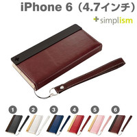 Simplism Flip note style Case with Strap for iPhone 6