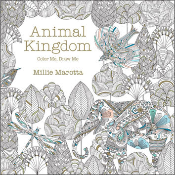 Animal Kingdom Color Me Draw Me Adult Coloring Book by Millie Marotta