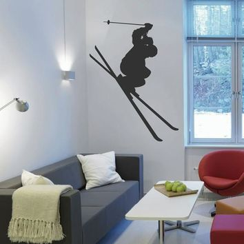 ik2424 Wall Decal Sticker skier skiing sport sports shop Living