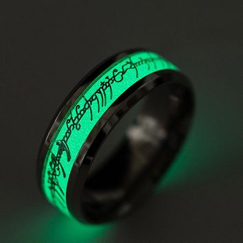 2017 Creative Ring Luminous Ring for Men Hot sale Party/ Concert  Ring Western most  popular Ring 6--13 for girls & Boys