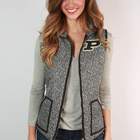 Purdue University Herringbone Vest