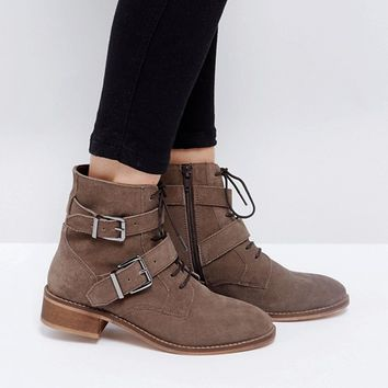 ASOS ACTION Suede Ankle Boots at asos.com