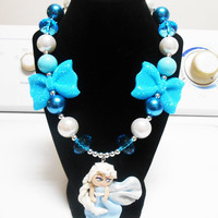 Once Upon A time Fairytale Frozen Elsa Bubblegum Chunky Necklace