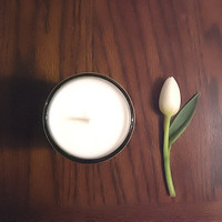 Spring Nectarine - Handpoured Soy Candle. Mouthwatering, fruity and earthy. Ecofriendly biodegradable home decor