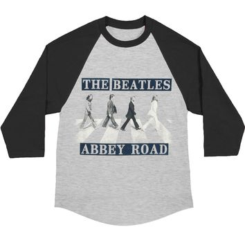 Beatles Men's  Baseball Jersey Grey