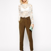 Goldie Driver Tapered Trouser With Belt at asos.com