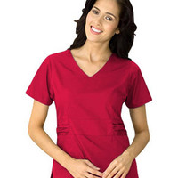 Dickies Womens V-Neck with Waist Detail Solid Scrub Top