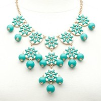 BEADED BUBBLE BIB NECKLACE