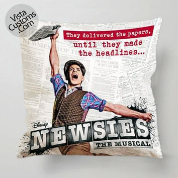 Newsies Broadway Musical pillow case, cover ( 1 or 2 Side Print With Size 16, 18, 20, 26, 30, 36 inch )